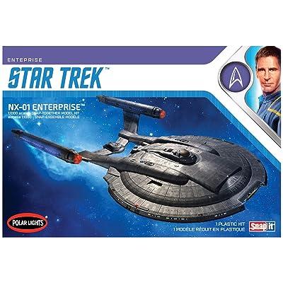 AMT POL966M/12 1/1000 Star Trek NX-01 Enterprise Model Kit: Toys & Games