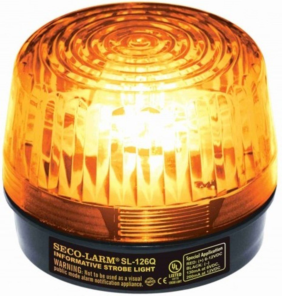 Seco-Larm SL-126-A24 Amber Emergency Strboe Light for General Signaling, 24VDC by Seco-Larm