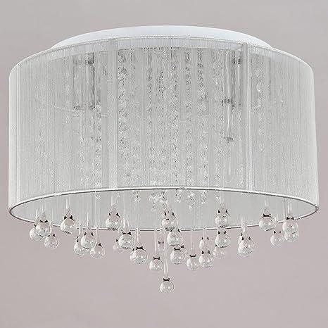 Lámparas de techo modernas Simple iluminación pastoral Tela ...