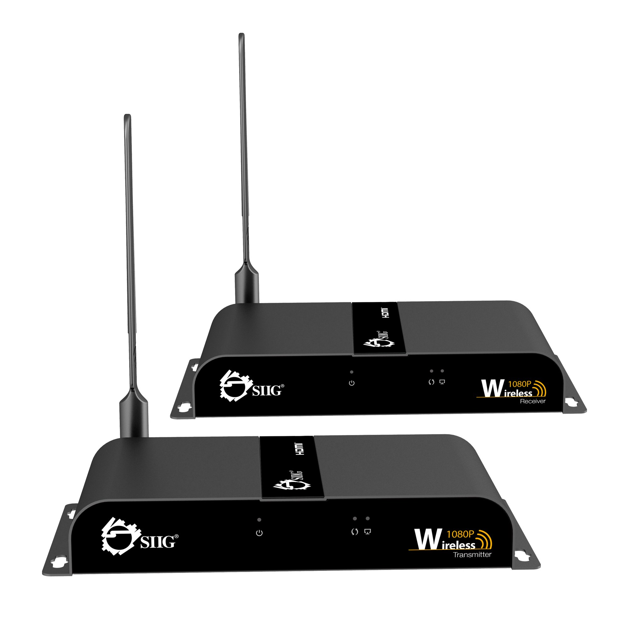 SIIG Wireless Wall-Mountable 1080P HDMI Extender Video Kit - 165 Feet (50 meters) - Version 2.0 With Wi-Fi Extension Antenna by SIIG