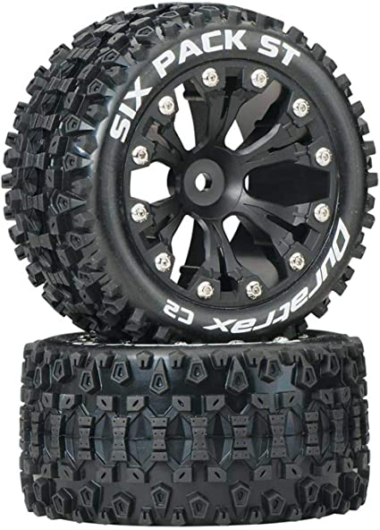 Duratrax Mounted Lockup ST Tires Wheels 4 2WD Stampede Rustler Jam Front Rear