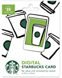Starbucks Digital Gift Card (No Plastic Card – Enclosed Code Only)