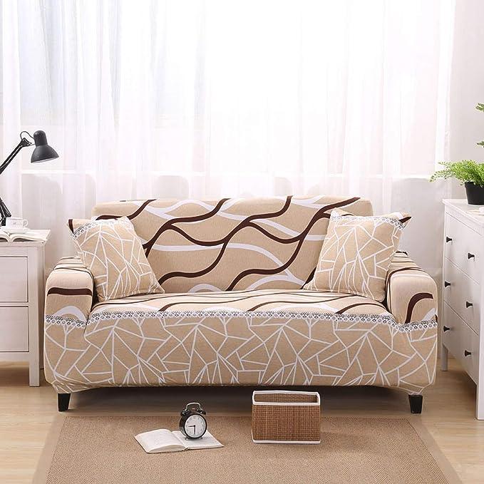 Funda de sofá elástica Color Beige, Cubre Muebles elásticos ...