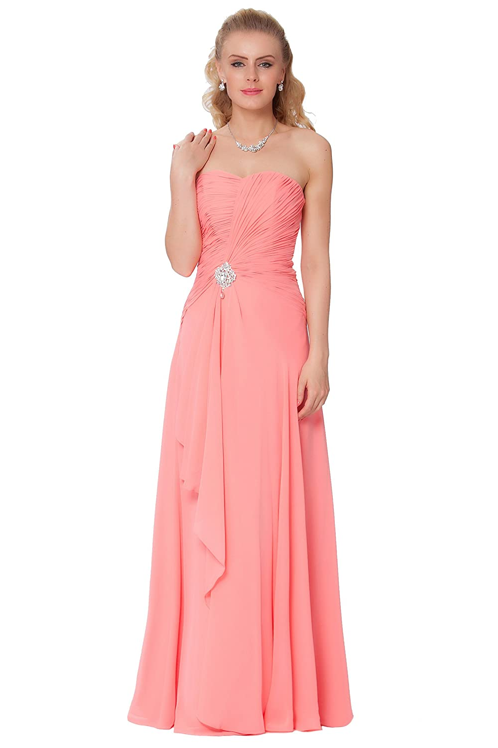 SEXYHER Gorgeous Full Length Strapless Bridesmaids Formal Evening Dress - EDJ1592
