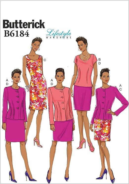 Butterick Patterns 6184 A5 - Patrones de Costura para Chaqueta ...