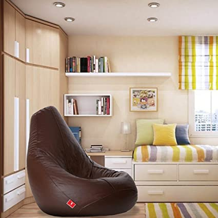 Remarkable Bean Bags Teardrop Shape Bean Bag Size Xxxl Filled With Beans Filler Brown Gamerscity Chair Design For Home Gamerscityorg