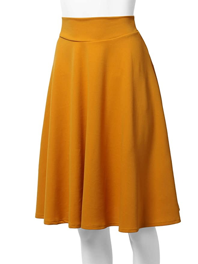 c804694f13 Amazon has this SSOULM Women's High Waist Flare A-Line Midi Skirt in a  variety of styles for just $13.99 – $14.99 with FREE Prime shipping or free  shipping ...