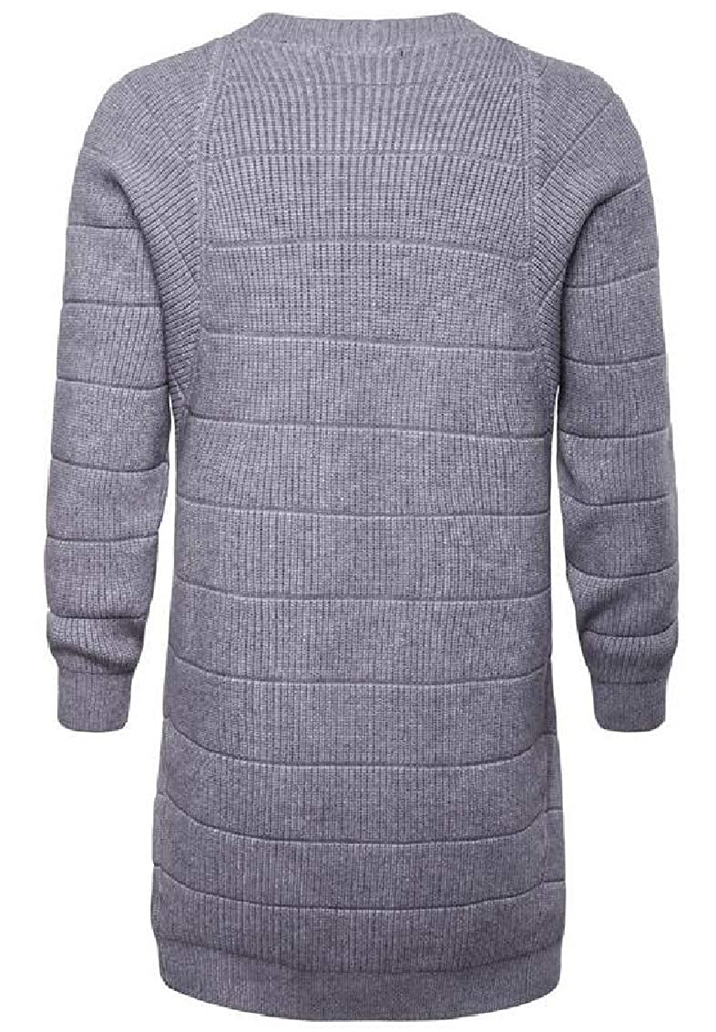 Yayu Mens Open Front Sweaters Lightweight Knit Long Sleeve Cardigans