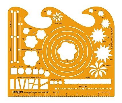 Amazon.com: Landscape Template Drafting And Design Templates Stencil ...