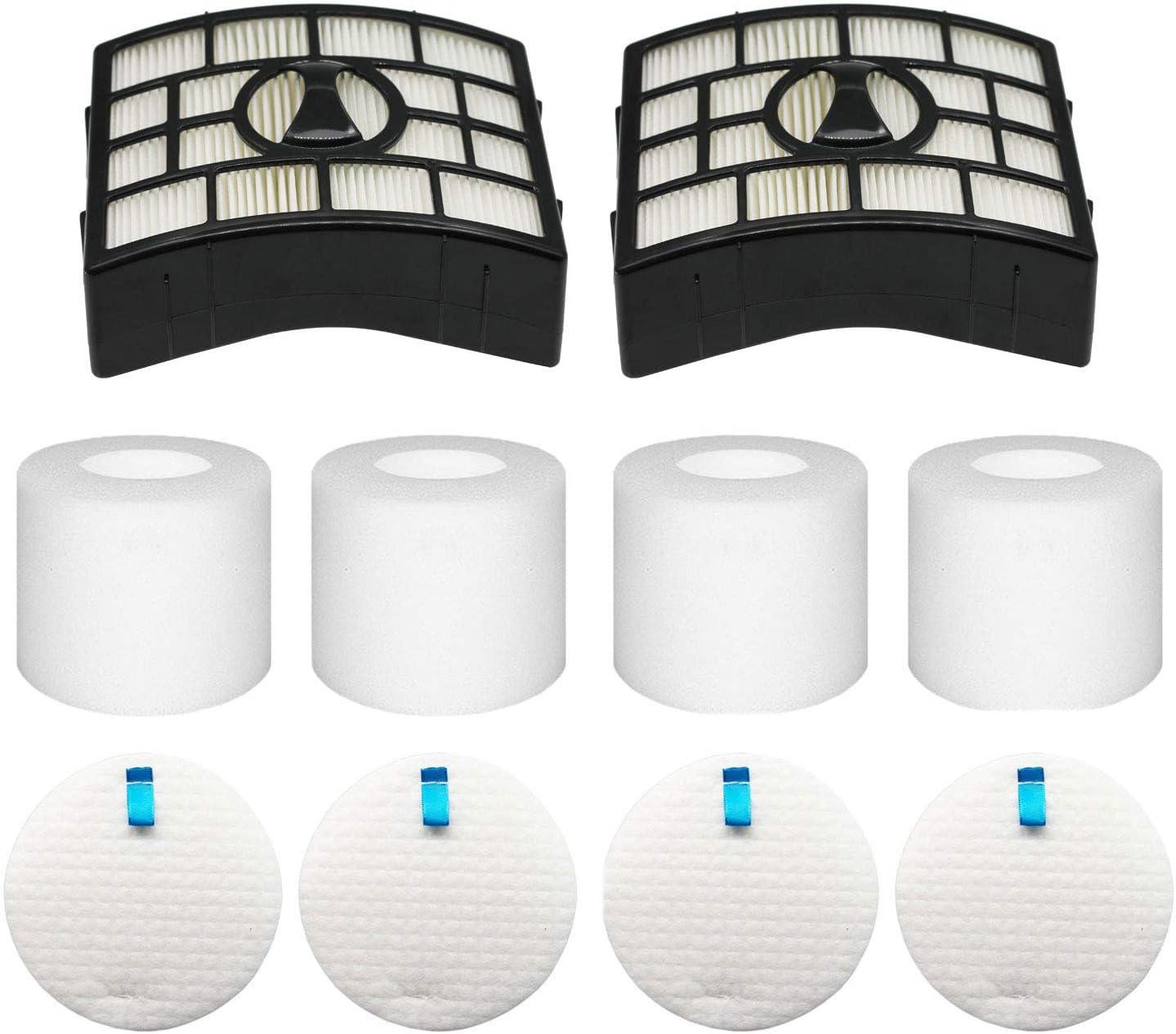 Colorfullife NV650 NV750 Filters for Shark Rotator Powered Lift-Away Vacuum NV650, NV650W, NV651, NV652, NV750, NV750W, NV751, NV752, 4 Foam & Felt + 2 Hepa Filters, Replaces Part XFF650 & XHF650
