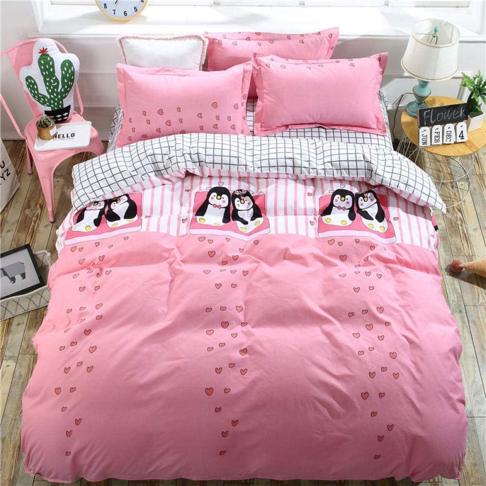 WAWA Juego de Cama de Textiles para el hogar Simple de Cuatro ...