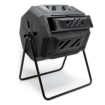 Compostador de tambor de 160 litros giratorio