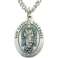 San Gabriel (St Gabriel Medal) Medalla Colgante 3/4 Pulgadas Con Cadena
