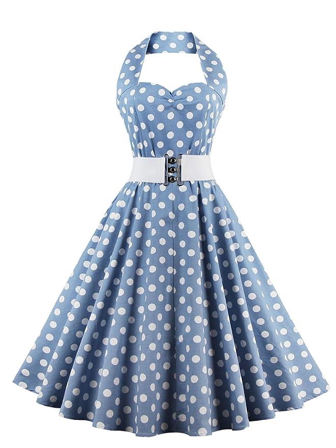 104 opinioni per VKStar®Abito Retrò Chic Stile Halter Vintage 1950 Audrey Hepburn Vestito da