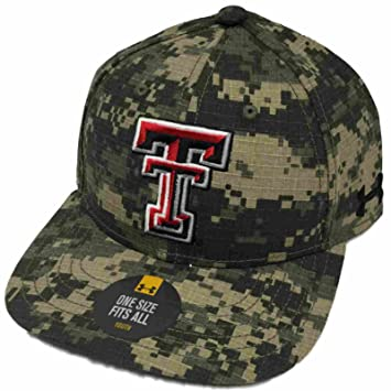 wholesale dealer b0aec 17bad ... hot texas tech red raiders under armour youth camo baseball on field  adj hat cap 1fcd4