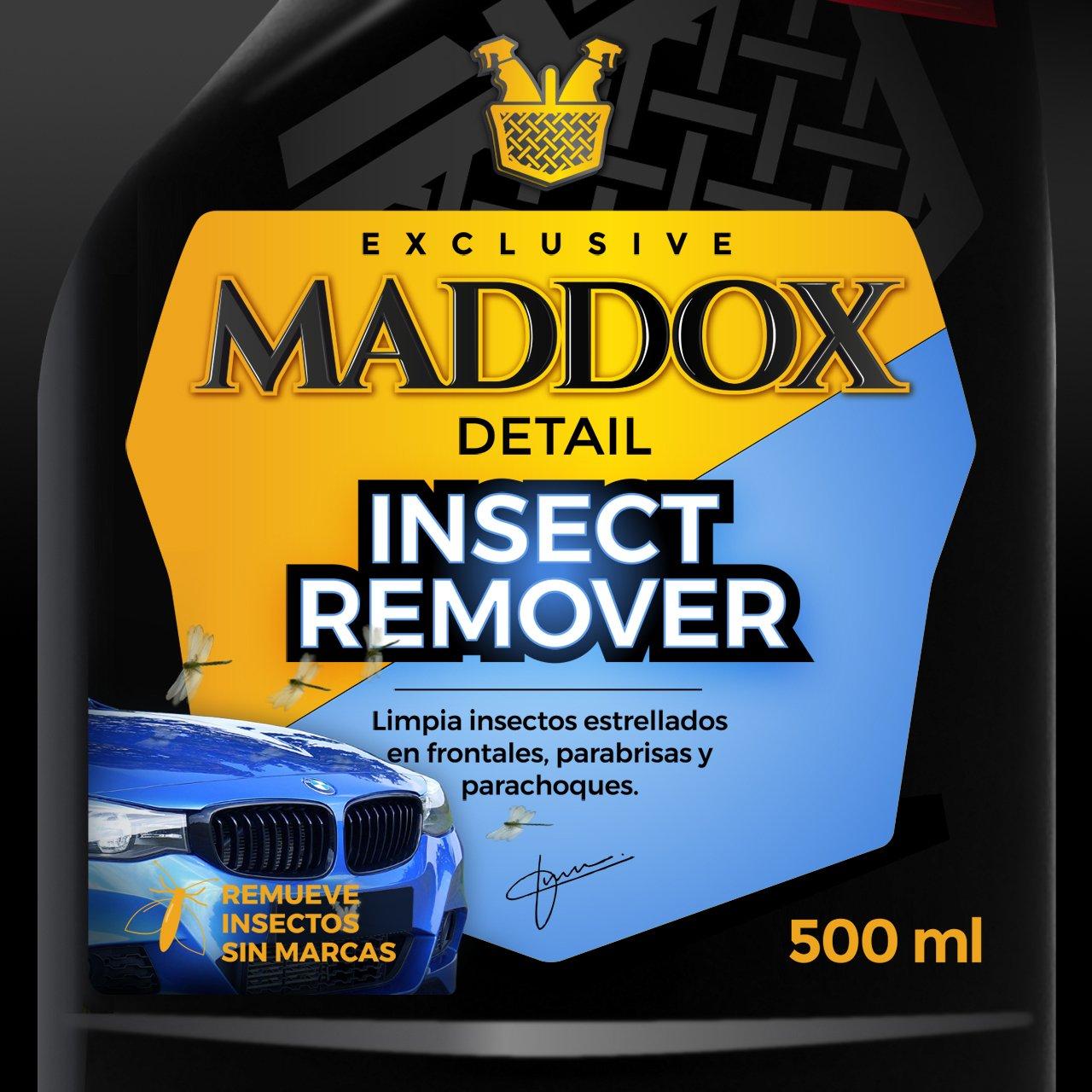 Maddox Detail Insect Remover - Limpiador insectos estrellados en frontales, parabrisas y parachoques. (500ml): Amazon.es: Coche y moto