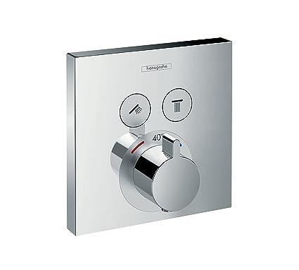 Hansgrohe 15763000 ShowerSelect termostato empotrado, cromo, 2 salidas