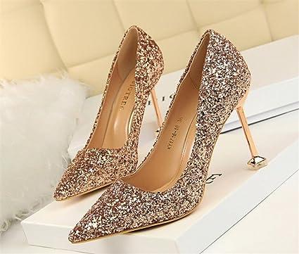 e43a98a9d4335 Amazon.com: LUCKY CLOVER-CC High Heels Sandals Night Club Bar Party ...