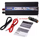 iMeshbean 2000W Car Power Inverter DC 12V/24V to AC 110V/220V with USB Slot& AC Outlets High Efficiency RV Solar Converter for Household Appliances Emergency & Outdoor Peak 4000W USA (DC12V - AC110V)
