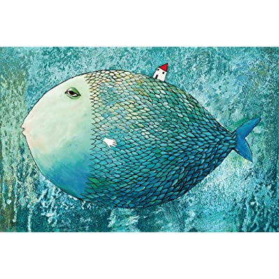 1000 Piece Puzzles, Jigsaw Puzzle for Adults or Kids - Big Blue Fish Puzzles Toy Game for Kids Explore Creativity and Problem Solving 19.7 x 29.5 inches: Toys & Games