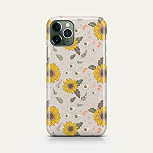 covery cases Silicon Back Cover Sunflowers White For Iphone 11 Pro - Multi Color