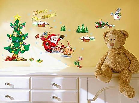 Amazon.com: S&C Merry Christmas New Style Christmas Tree Santa Claus ...