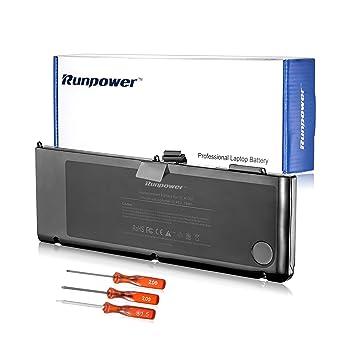 Runpower Nueva batería del ordenador portátil para Apple A1321 A1286 (sólo para mediados de 2009 versión 2010) Unibody MacBook Pro + Tres ...