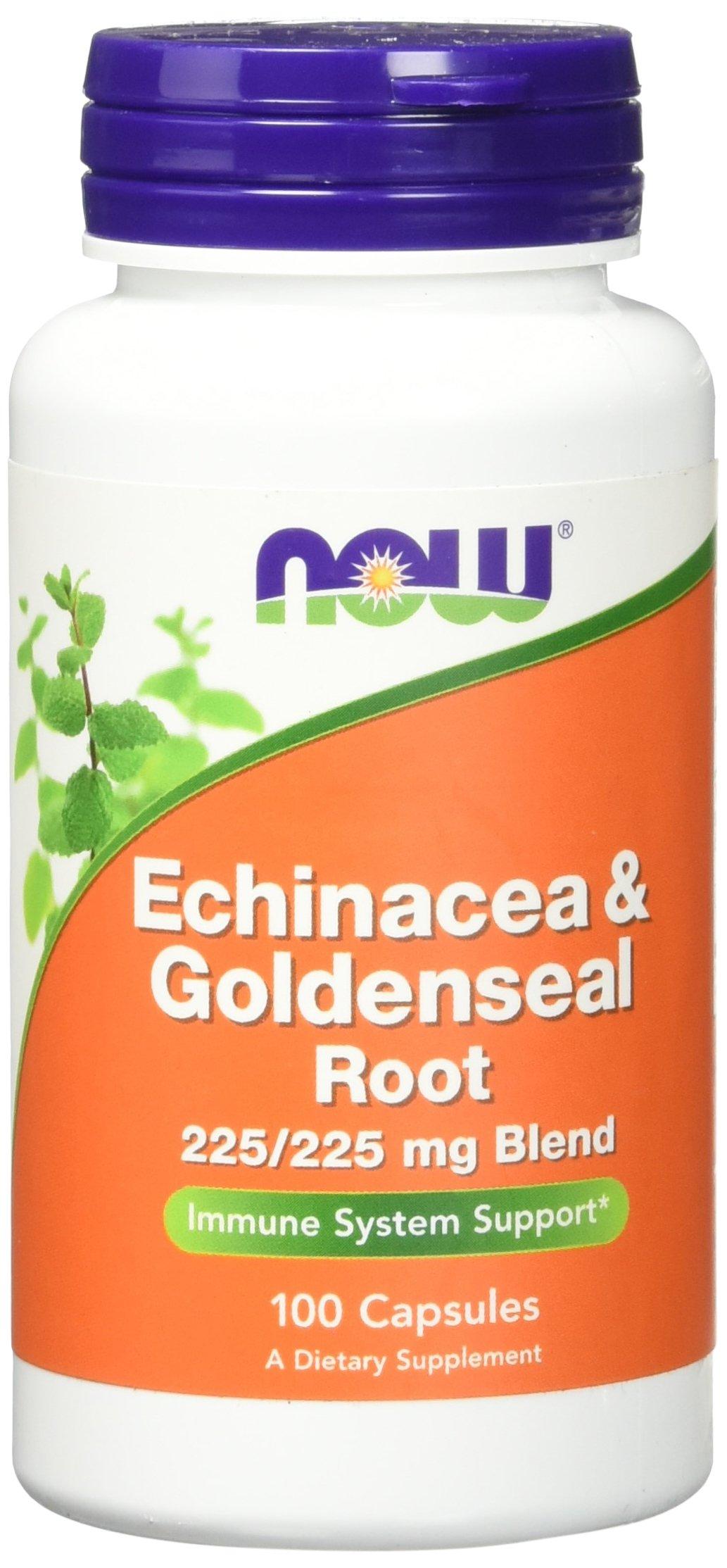 NOW Echinacea & Goldenseal Root,100 Capsules