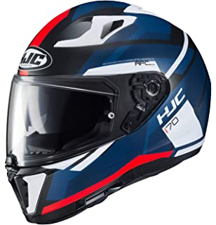 HJC Unisex Adult Full Face i i 70 Elim Motorcycle Helmet MC-1SF Red/White