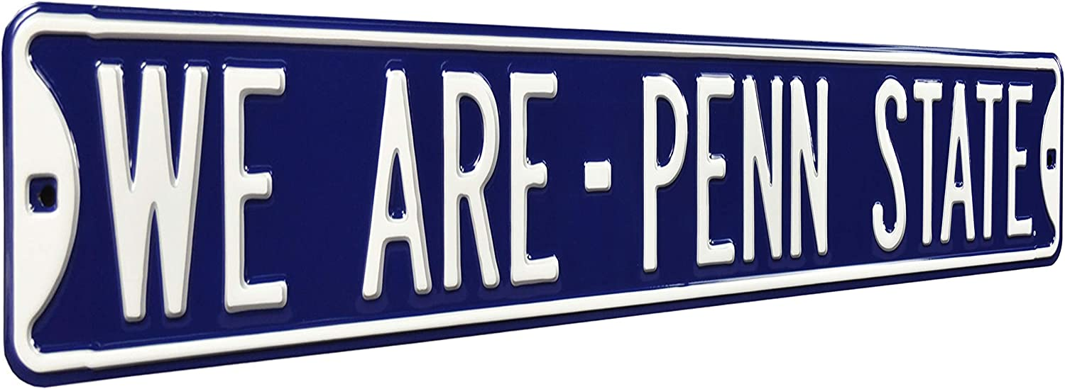 NCAA We are - Penn State Street Signstreet Sign, Team Color, 36