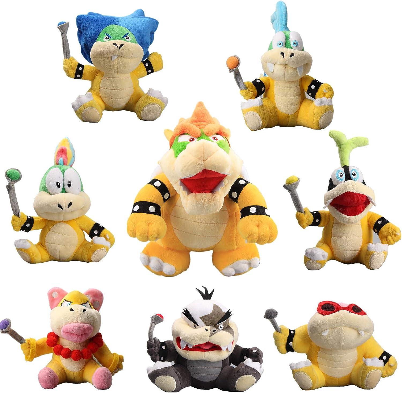 Super Mario Koopalings Roy Morton  Ludwig  Lemmy  Koopa Iggy  Plush Doll Toys