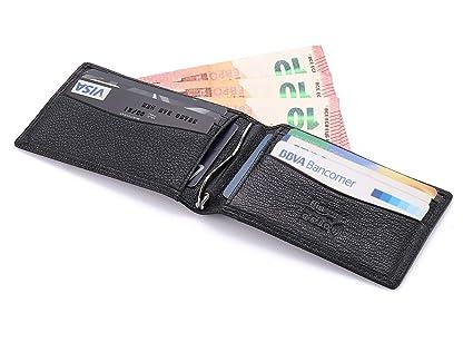 flintronic® Cartera Tarjeta de Crédito, Slim RFID Bloqueo Monedero de Cuero, Carpeta del Cuero, Tarjetas de Visita Tarjeta de Crédito, Alojar hasta 11 ...