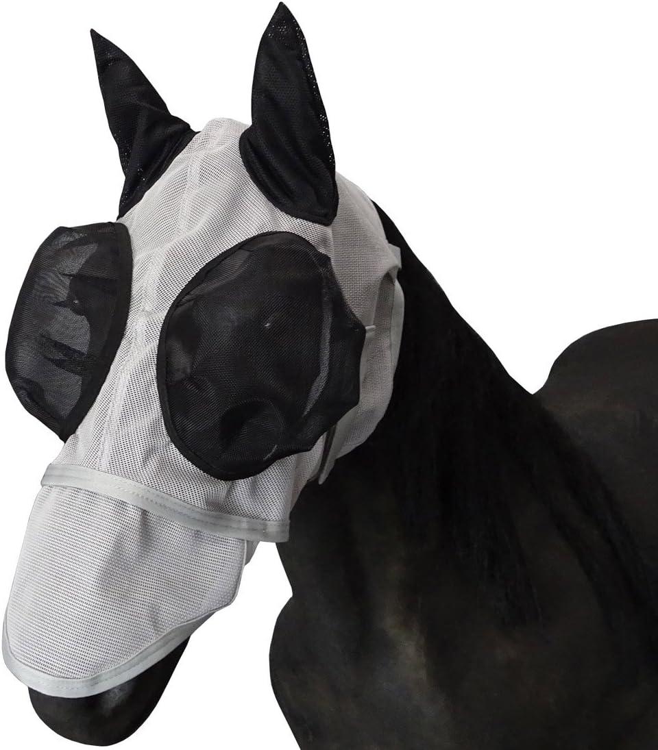 LEBERNA cara completa malla volar máscara con orejas larga nariz ojos Cap–caballo/COB