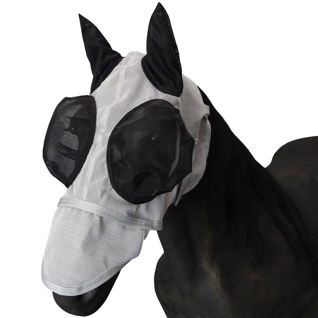 Leberna Mesh Fly Mask with Ears Nose UV Protection Full Face for Horse/Cob by Leberna