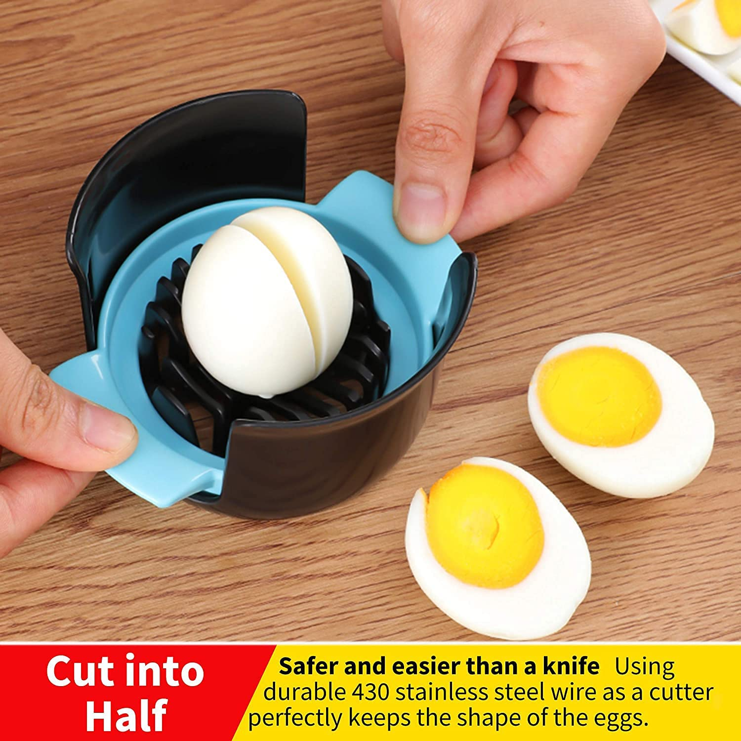 Details about  /Home Kitchen Cutting Dining Manual Bar Easy Clean Portable Universal Eggs Slicer