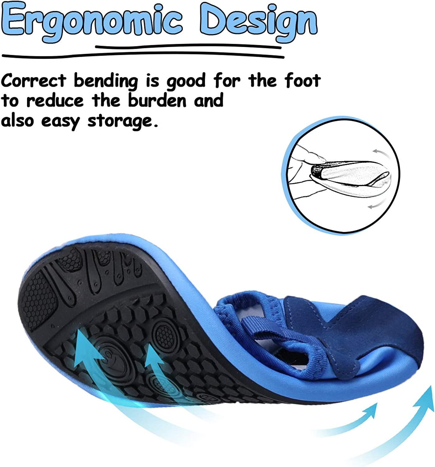 mysoft Kids Water Shoes Quick Dry Non-Slip Toddler Water Skin Barefoot Sports Swimming Beach Pool Shoes for Boys /& Girls
