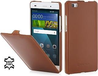 StilGut UltraSlim Case, custodia in pelle per Huawei P8 Lite, cognac