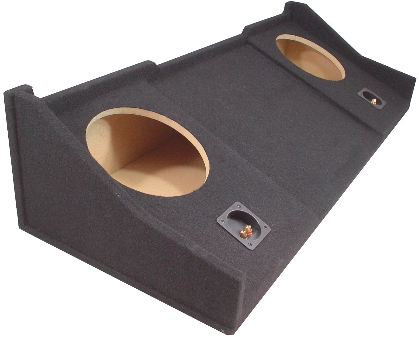 Compatible with Dodge Ram Extended, Quad or Club Cab Truck 1998-2001 Dual 10'' Subwoofer Sub Box Speaker Enclosure by American Sound Connection