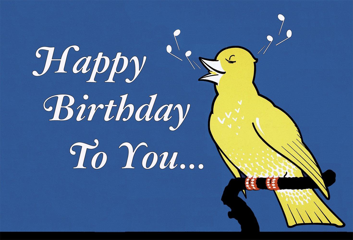 Happy Birthday to YOU - Singing Bird Birthday Card: Elephant