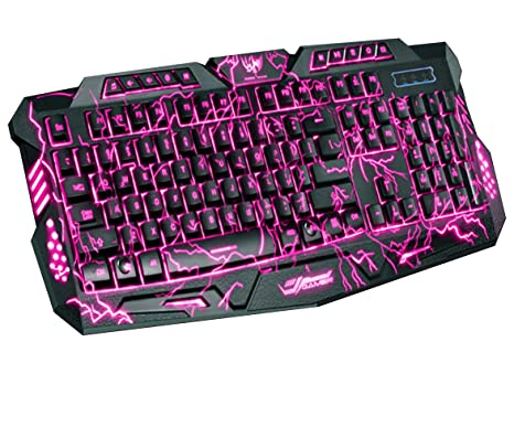 2892ed0925f M200 Blink, Three Color Burst Pattern Backlight Game Keyboard, 104 Keys,  Wire Adjustable