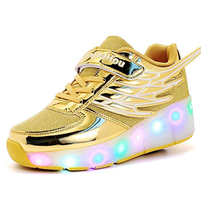 new arrival 98add 6b79d ZXSFC Kinder Schuhe mit Rollen Mesh Skateboardschuhe LED ...