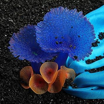 Artificial Resina Coral azul suave agua acuario peces tanque decoración adorno