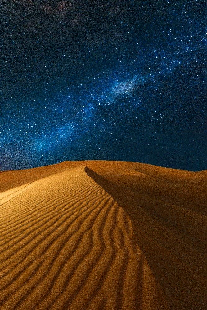 Desert at Night 16x24 Gallery Quality Metal Art