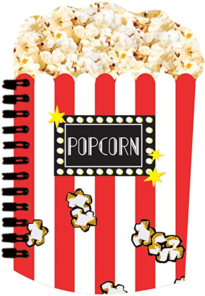 amazon com iscream scented popcorn shaped lined page 6 5 notebook