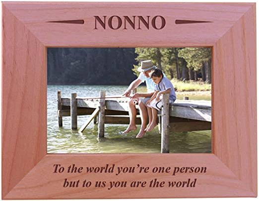 Infusion Gifts IT-3019-SO Nonna and Me Engraved Frame Oyster Havoc Gifts Small