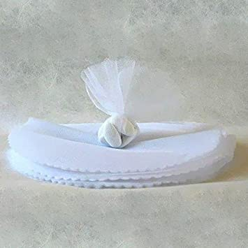 24x Círculos de Tul Blanco (24 cm de diámetro) Bolsas ...