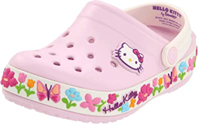 2b1169cfb Amazon.com | Crocs Hello Kitty Clog (Toddler/Little Kid), Bubblegum ...