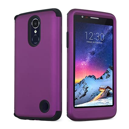 SOUNDMAE LG Aristo Case, LG K8 2017 Case, Heavy Duty PC and TPU Combo Protective Defender Body 3 In 1 Design Armor Shock Absorbing Slim Fit Cover ...