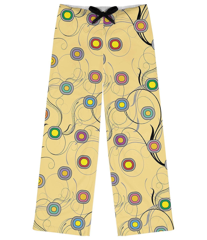 L Yellow RNK Shops Ovals /& Swirls Womens Pajama Pants Personalized