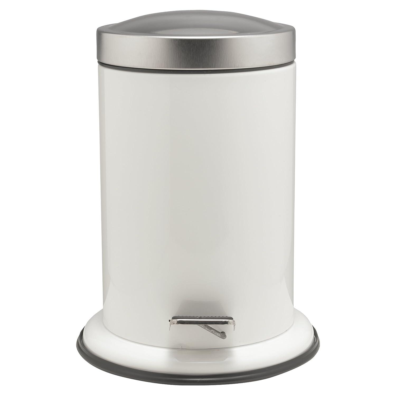 Blanco Sealskin Acero Cubo de Basura con Pedal 3L Acero Inoxidable 22.4 x 23 x 28.5 cm